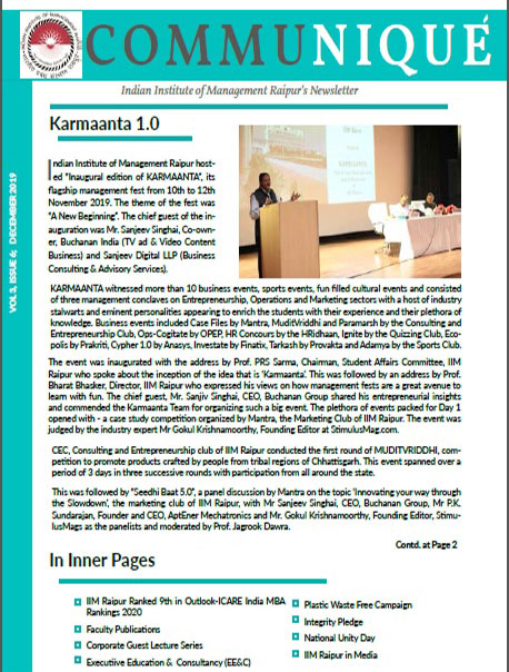 Newsletter Vol 3 Issue 6